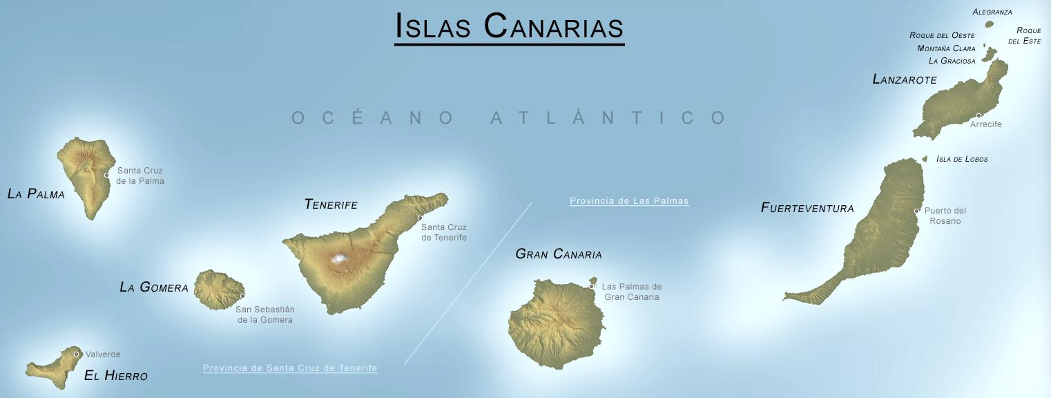Mapa Archipiélago Canario
