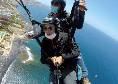 Vuelo con Parapente Canarias en la zona sur en Adeje isla de Tenerife