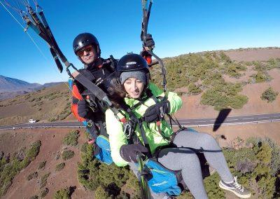 Parapente Canarias vuelo en el Teide en Tenerife