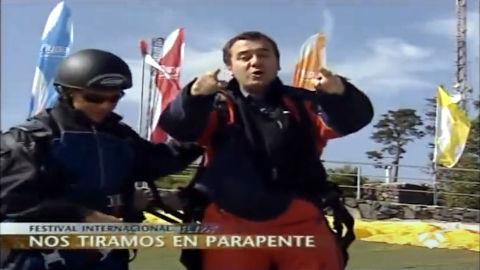 Antena 3 y Roberto Brasero con Para`pente Canarias en el Teide