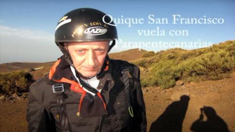 Enrique San Francisco con Parapente Canarias